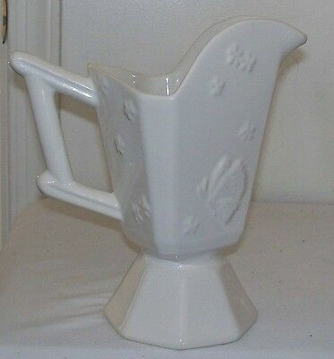 Vintage Hull Art Pottery Butterfly Butterflies Footed Pitcher