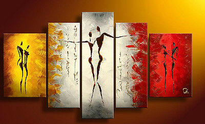 MODERN ABSTRACT LARGE CANVAS ART OIL PAINTING ON WALL DECOR 5PC