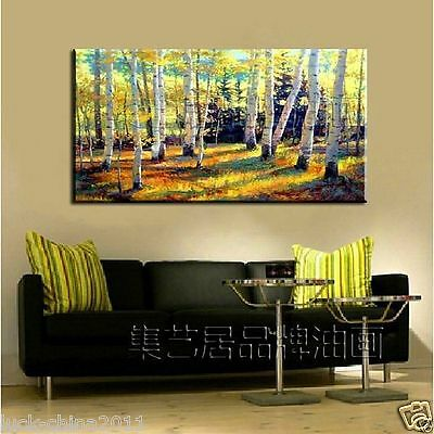 """Special Offer★"""" birches """" 48"""" large Home TOP Abstract Decor ART OIL PAINTING X"""