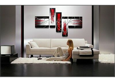 Handcraft Abstract Modern Huge Wall Art Oil Painting on Canvas 5PC(no frame)X