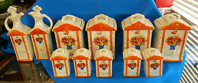 Mepoco ware of Germany 11 piece canister set