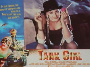 TANK GIRL - 11x14 US Lobby Cards Set - Lori Petty, Ice-T, Naomi Watts