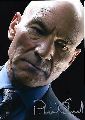 Patrick Stewart signed X Men Days of Future Past 8x10 - PROOF - Authentic -