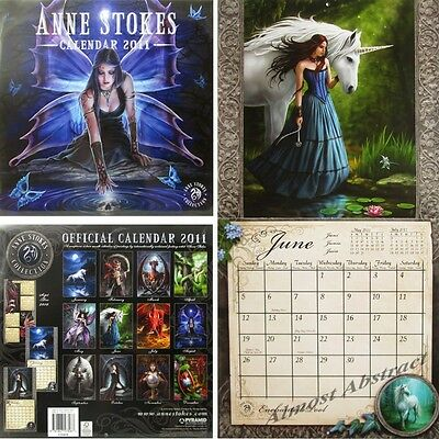 Anne Stokes 2011 Collectors Wall Calendar ~ Amazing Gothic Fantasy Artwork ~ New