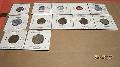 12 COINS FROM Czechoslovakia A GREAT STARTING COLLECTION