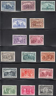 #230P4-245P4 Superb Gem Columbian Set Plate Proofs On Card Fresh Colors Wl5358