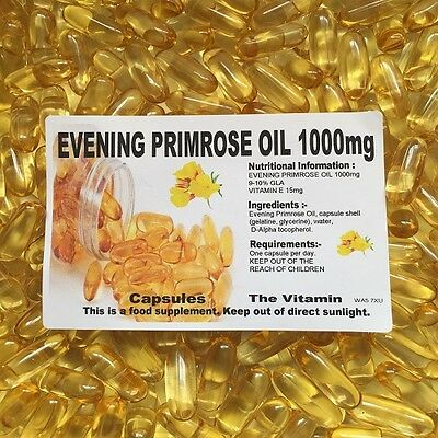 The Vitamin Evening Primrose Oil 1000mg 365 Capsules - Bagged