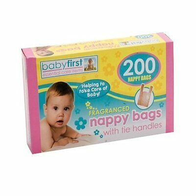 200 Disposable Hygenic Nappy Sack Bin Bags Fragranced Handles Scented Perfumed