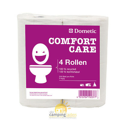 DOMETIC 4 ROLLEN COMFORT CARE Soft Camping Toilettenpapier WC Papier, Boot, Womo