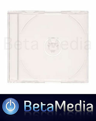 400 x Jewel CD Cases with Clear Tray Single Disc - Standard Size case