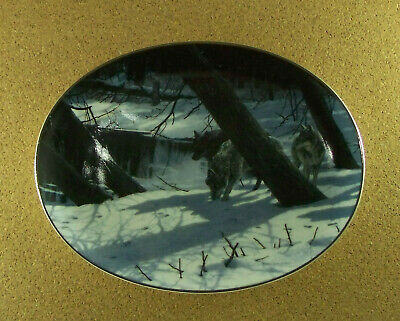 Winter Shadows MOONLIGHT SHADOWS Plate #6 Wolf Wolves COA  Persis Clayton Weirs
