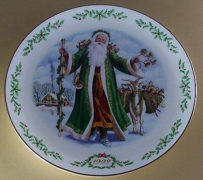 Lenox FATHER CHRISTMAS International Victorian Santas Plate Collection 1993