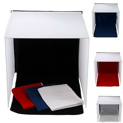 """20"""" Photography Studio Square Tent Cube Light Softbox with 4 Color Background"""