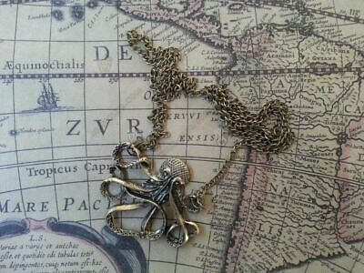 Octopus Kraken necklace squid Cthulu Steampunk
