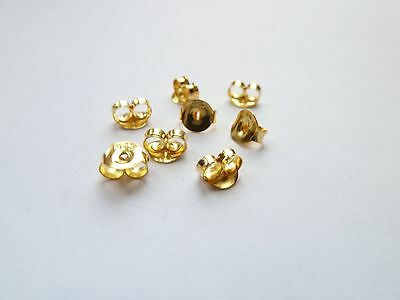 Gold Plated Sterling Silver Butterfly Earring Backs/Scrolls Push Fit 3,5,10 & 20