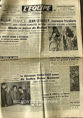 Journal l'Equipe n°2237 - 1953 - Jean Le Guilly - Deledda - Sandeyron - Keenan