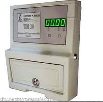 Coin Operated Timer Programmable Electric Digital Meter TIM30 For Dryer Sunbed