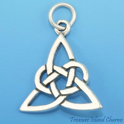 TRINITY TRIQUETRA CELTIC ENDLESS KNOT .925 Sterling Sterling Silver Charm