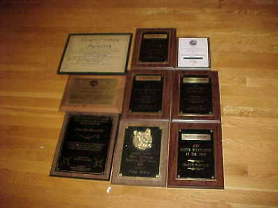Charlie Harville Pioneer Broadcast Journalist Awards Lot (9) High Point NC