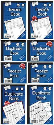 Full Half Size Invoice Duplicate Receipt Book Numbered Cash 1 50 100 Page Pad BN