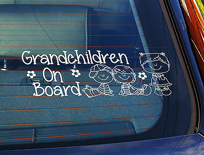 Static Cling Window Car Sign//Decal Our Grandchildren 2 Teds 100mm x 250mm 17