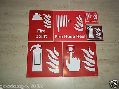 Fire Point, Fire Extinguisher, Fire Hose Reel Self Adhesive Signs
