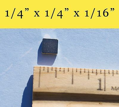 "150 Neodymium Rare Earth Magnets 1/4"" x 1/4"" x 1/16"""