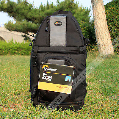 New Lowepro SlingShot 202 AW Camera Backpack Shoulder Bag with All Weather Cover