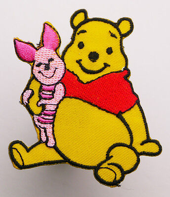 WINNIE THE POOH & PIGLET Iron-On Embroidered Disney Patch MIX 'N' MATCH - #2D04