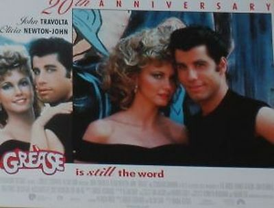 GREASE 20th Anniv.- 11x14 US Lobby Cards Set - John Travolta, Olivia Newton-John