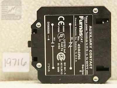 Furnas 49ACR6 Auxiliary Contact Kit Series E (Used)
