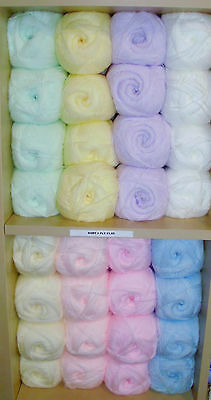 James C Brett 4 Ply Super Soft Baby Wool / Yarn - 100 grams - Choice of Colours)