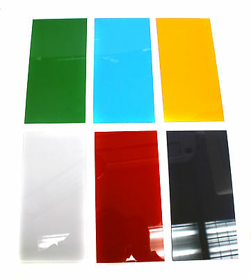 1 set Acrylic sheet Transparent 20x10cm Green Blue Orange Clear Red Black-Purple