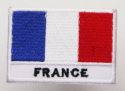 French National FRANCE FLAG Iron-On Embroidered Patch - MIX 'N' MATCH - #4F01