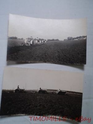 c.1920s Tractor Plowing Real Photo Postcard Lot Fordson? RPPC Vintage Original