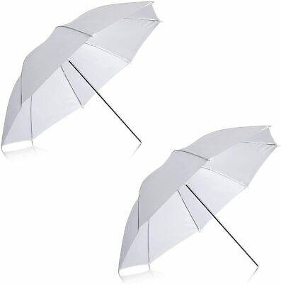 2x 40-Inch Black Silver Umbrella for Photography and Video Lighting Reflective