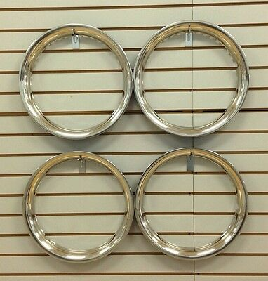 """14"""" NEW Stainless Steel Beauty Rings TRIM RING SET Of 4"""