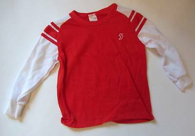 Childrens vintage tops New red white arsenal colours 1960's 18mths to age 3