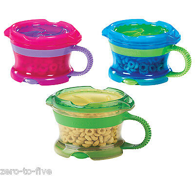 Munchkin Click Lock Deluxe Snack Catcher - Food Container- Blue, Pink, Or Green