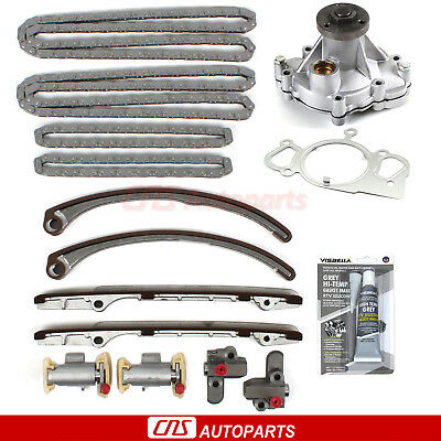 97-01 Jaguar 4.0L V8 Timing Chains Water Pump Tensioners Guide Rails Kit AJ