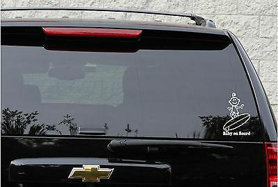 Baby on board vehicle decal in 9 colors