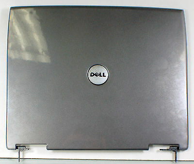 NEW OEM DELL Latitude D600 Laptop LCD Back Lid Top Rear Cover Hinges 8m669 Gray