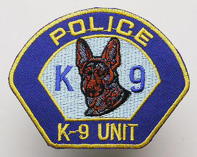 "US POLICE - ""K-9 DOG UNIT"" - Iron-On Embroidered Patch - MIX 'N' MATCH - #2N11"