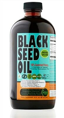 ORGANIC 100% Black Seed Oil 16 oz.Pure Cold-Pressed in NY(Glass Bottle)