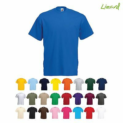Fruit of the Loom Mens Unisex Plain Casual Leisure Tee T Shirt