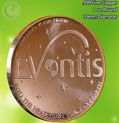 Evontis 1 oz .999 Copper Round Very Limited and Rare