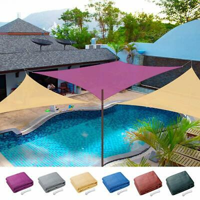 Sun Shade Sail Outdoor Top Canopy Patio UV Block 11.5' 16.5' Triangle 18' Square