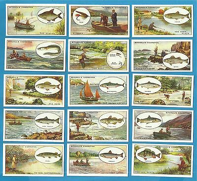 cigarette cards..Mitchell - ANGLING  - mint condition full set.