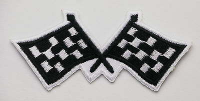 CHEQUERED FLAGS - Embroidered Iron-On Patch - PICK 'N' MIX - #1R03