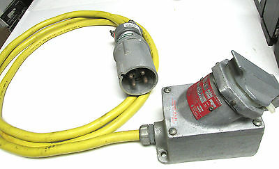 * Crouse Hinds Receptacle Cat# CPS732R w/Plug Cat# DTP-6034F and Cable  ZD-001